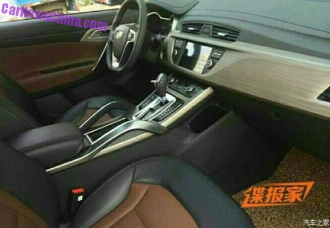 Spy Shots: Geely NL-3 SUV for China, the interior