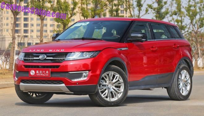 Range Rover clone Landwind X7 gets a Price in China