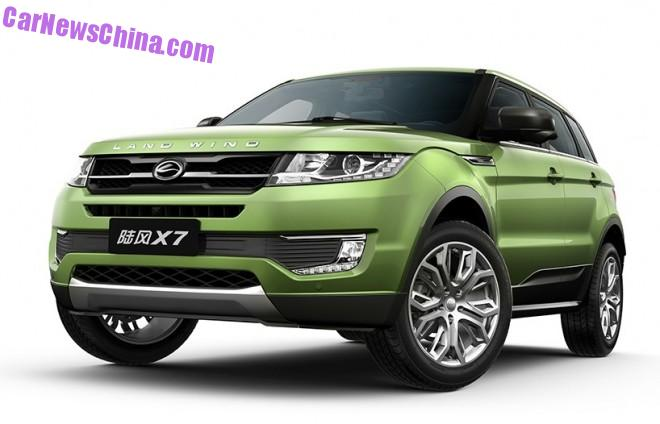 Official Photos of the Landwind X7 Range Rover clone from China