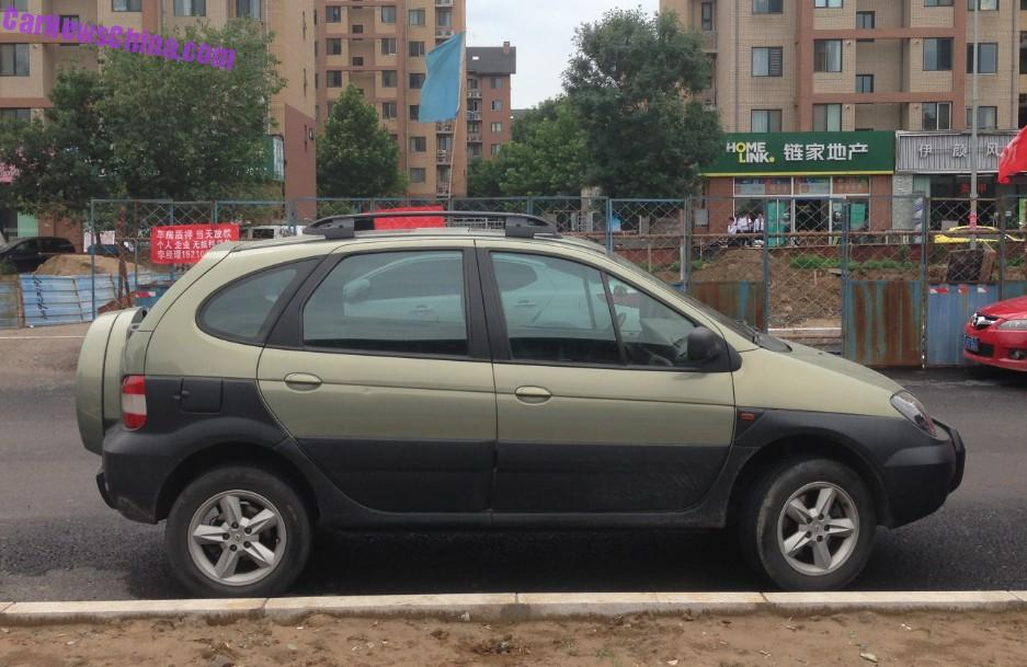 spotted in china renault scenic rx4. Black Bedroom Furniture Sets. Home Design Ideas