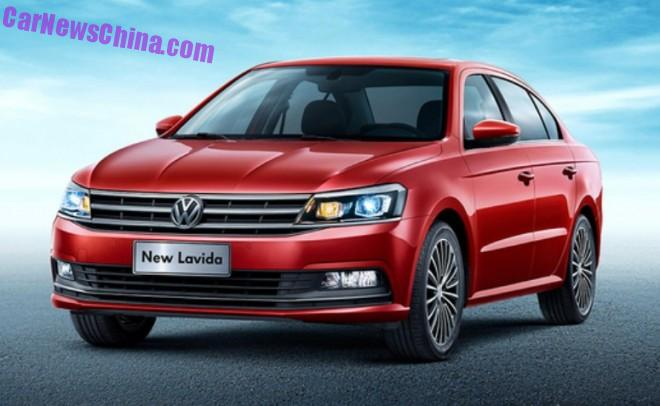 First images of the Volkswagen New Lavida for China