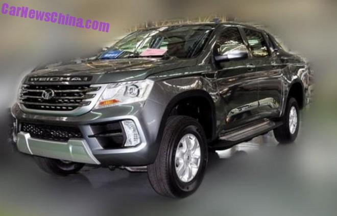 Spy Shots: Weichai Auto Yingzhi P80 pickup truck is Naked in China