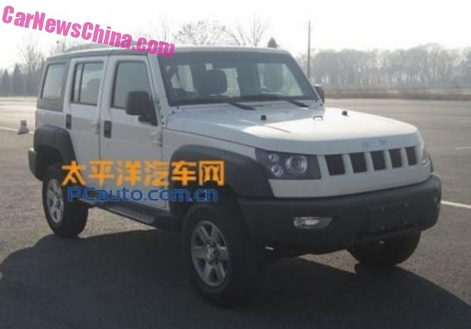 Spy Shots: Beijing Auto BJ40L is Ready for the Chinese car market