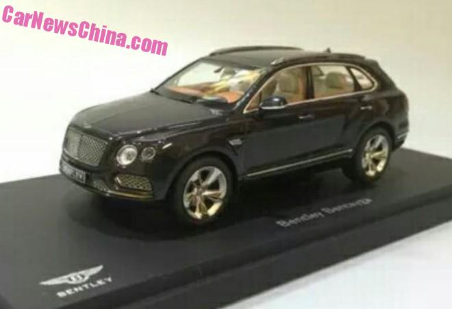 Bentley Bentayga SUV leaked completely in China in full 1:18 glory