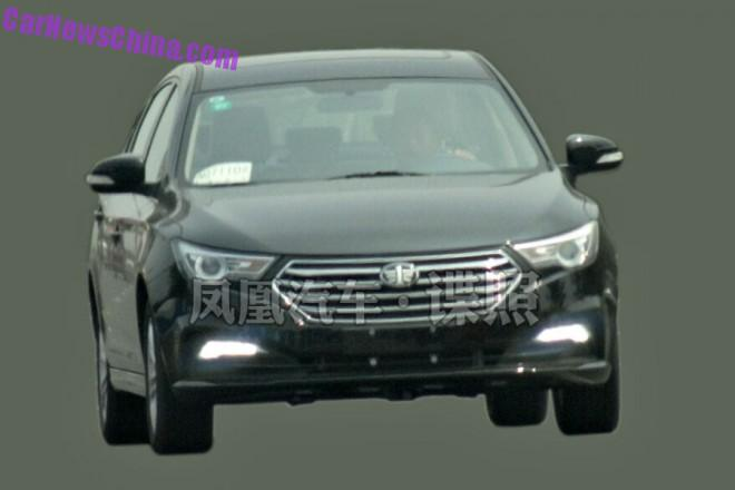 Spy Shots: FAW Besturn B30 sedan is Testing in China