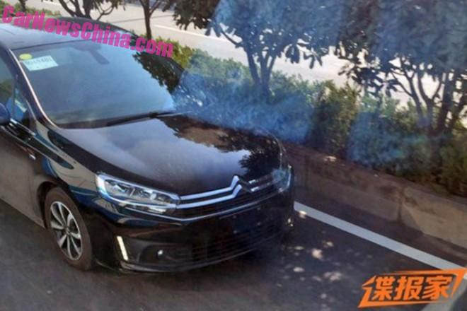Spy Shots: Citroen C4 sedan on the Road in China