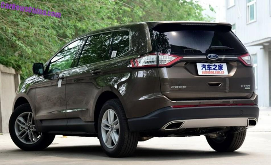 china made ford edge launched on the chinese car market. Black Bedroom Furniture Sets. Home Design Ideas