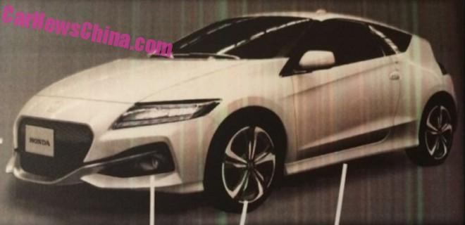 Spy Shots: Facelifted Honda CR-Z leaks in China