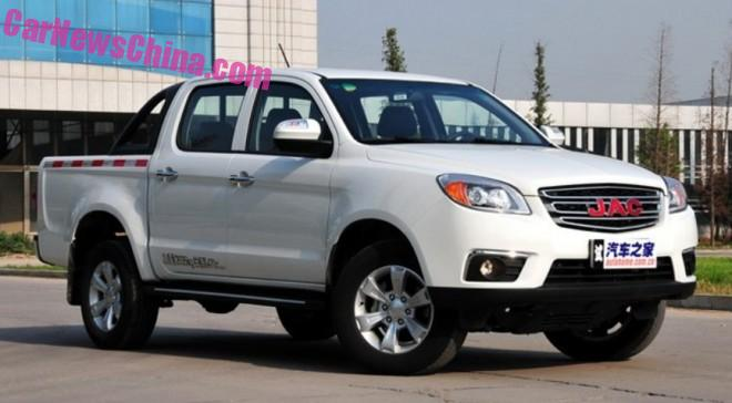 JAC T6 pickup truck will hit the Chinese car market in September