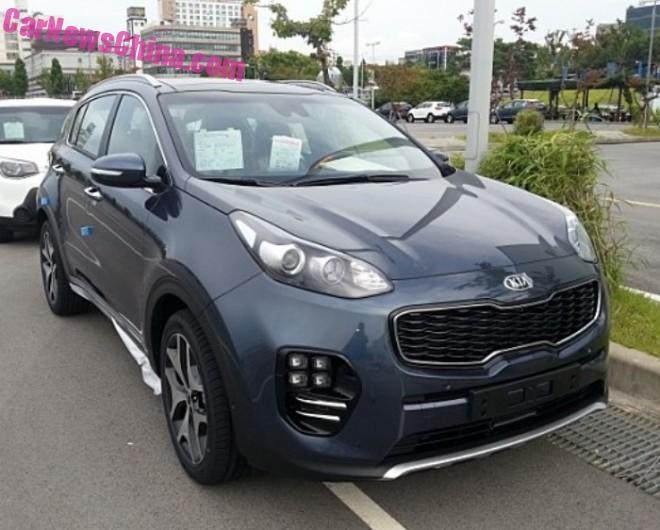 Spy Shots: 2016 Kia Sportage is Naked in China