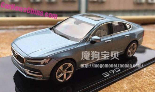 Volvo S90 leaked completely in China in full 1:18 glory