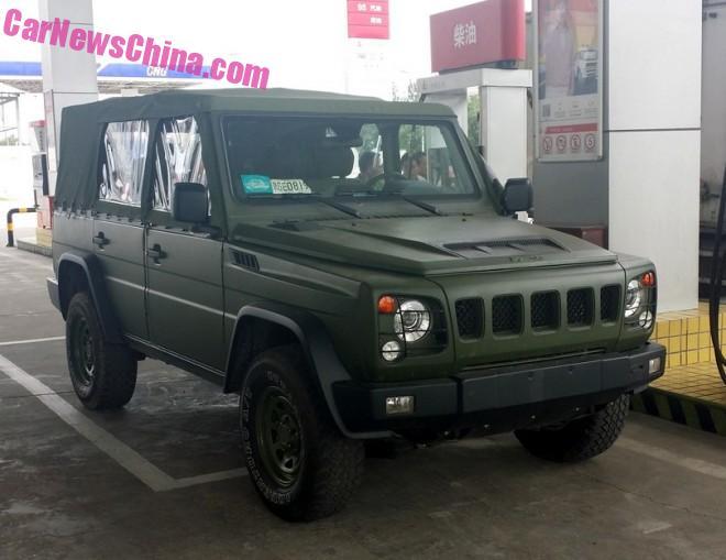 Spy Shots: Beijing Auto BJ80J four-door convertible