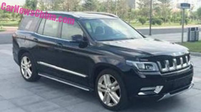 Spy Shots: Beijing Auto BJ90 SUV, based on Mercedes-Benz GL-Class