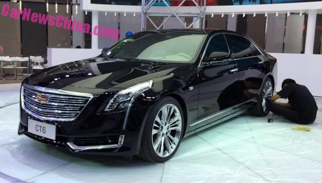 China-made Cadillac CT6 arrives at the 2015 Chengdu Auto Show