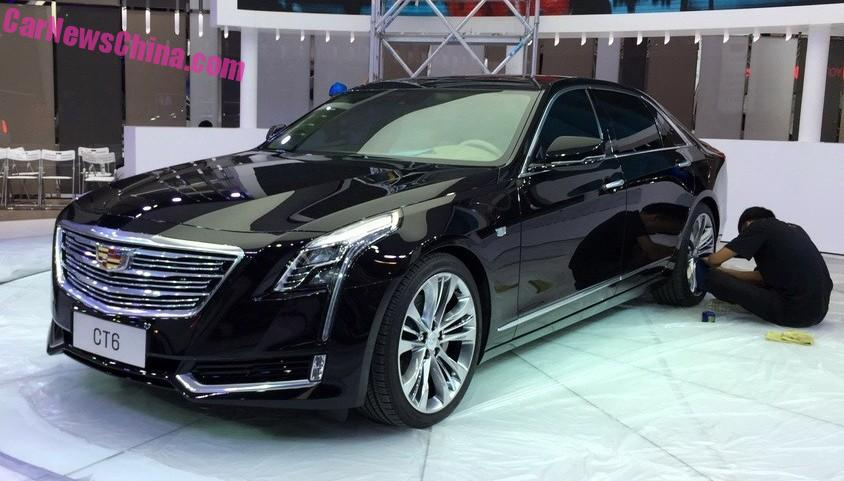 China Made Cadillac Ct6 Arrives At The 2017 Chengdu Auto Show