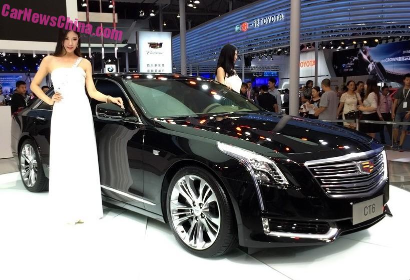 China Made Cadillac Ct6 Debuts On The 2017 Chengdu Auto Show