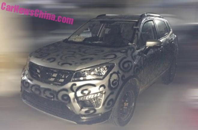 Spy Shots: Changan CS15 SUV testing in China