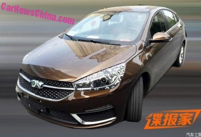 Spy Shots: Chery Arrizo 5 is Naked in China