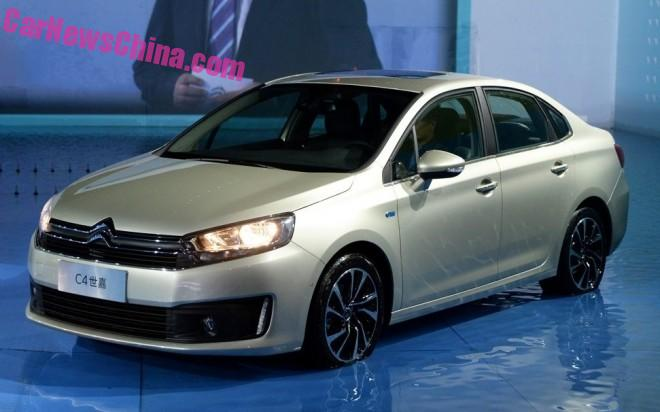Citroen C4 debuts on the 2015 Chengdu Auto Show in China