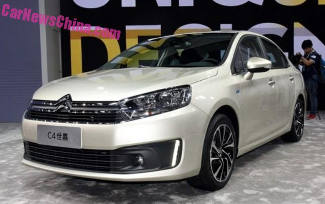 More photos of the new Citroen C4 sedan for China