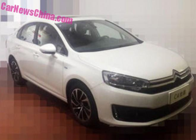 Spy Shots: new photos of the Citroen C4 sedan for China