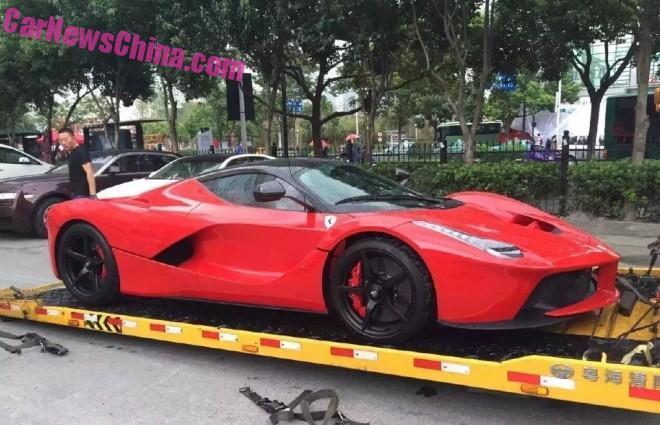 Ferrari LaFerrari supercar arrives in China