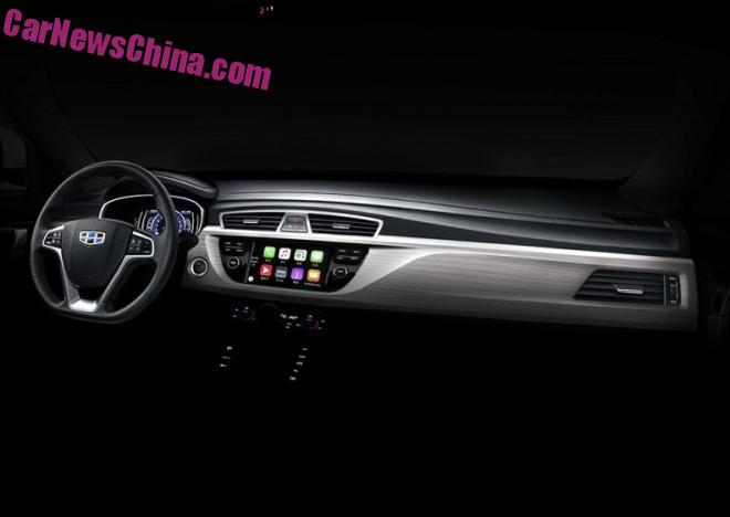 Officially Official: dashboard of the Geely NL-3 SUV, with Apple CarPlay
