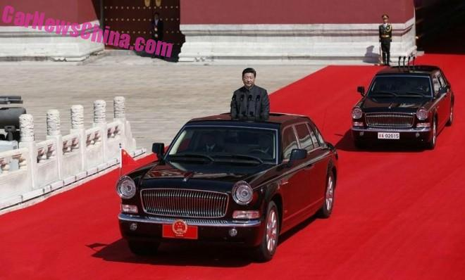 The Hongqi CA7600J at the Military Parade in China