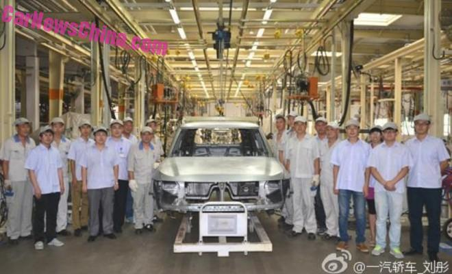 Production of the Hongqi LS5 SUV has started in China