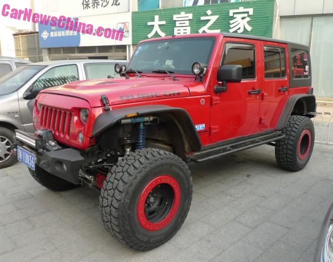 The rock crawling Jeep Wranglers of Beijing