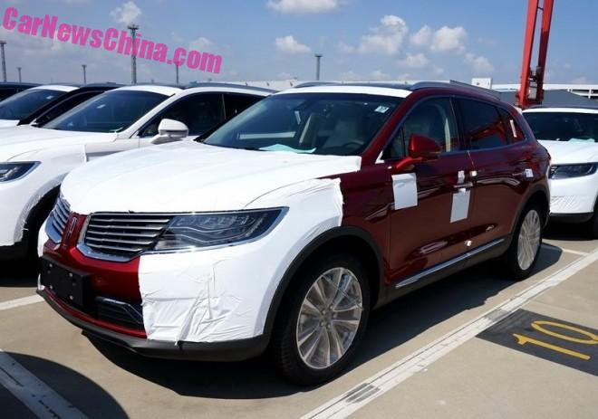 2016 Lincoln MKX arrives in China, by the Boatload