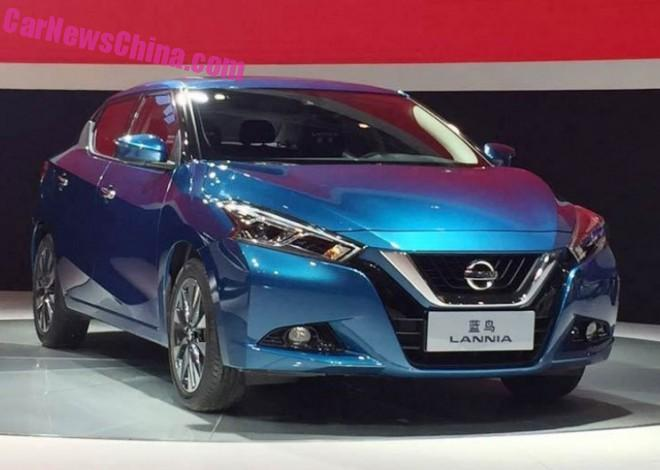 Nissan Lannia debuts at the 2015 Chengdu Auto Show in China