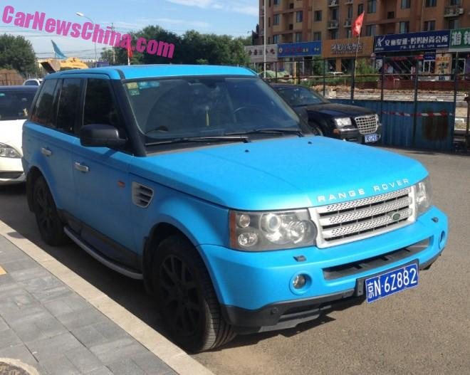 Range Rover Sport is baby blue in China