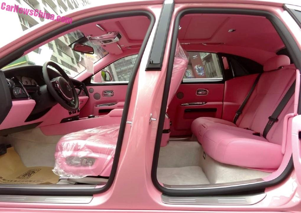 A Peek Inside The Pretty Pink Rolls Royce Ghost In China