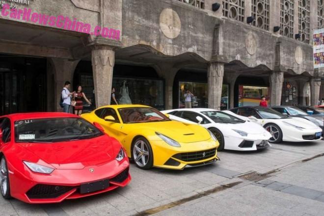 Supercars meet in Shanghai, China