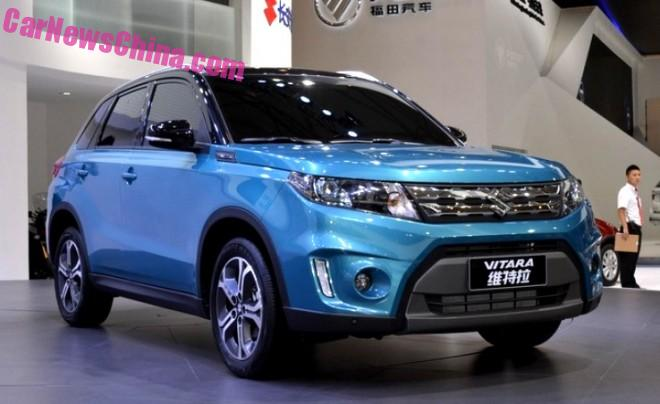 China-made Suzuki Vitara hits the 2015 Chengdu Auto Show