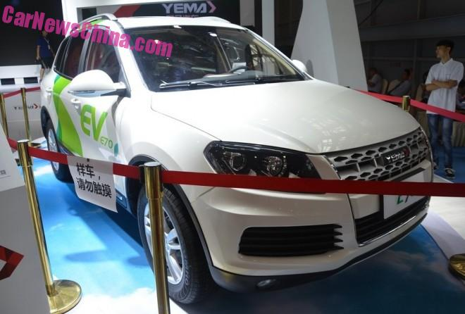 Yema E70 EV debutes on the 2015 Chengdu Auto Show in China