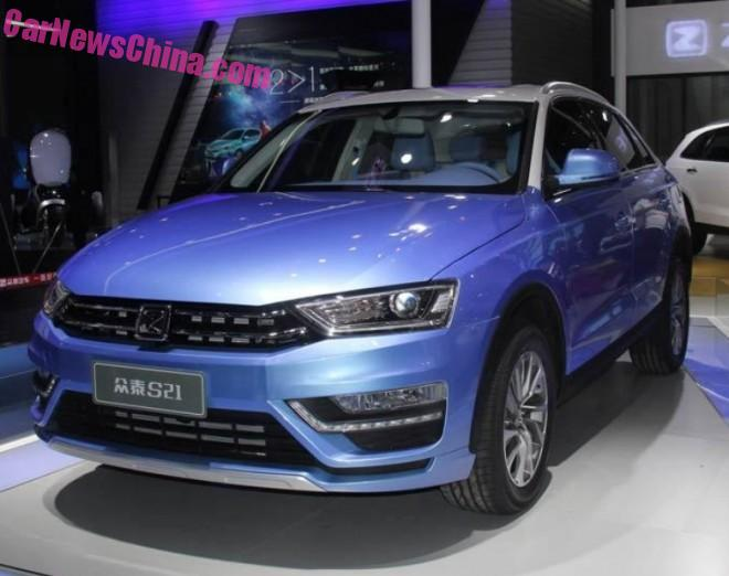 Zotye S21 SUV debuts on the 2015 Chengdu Auto Show in China