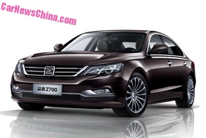 Official photos of the Zotye Z700 sedan for China