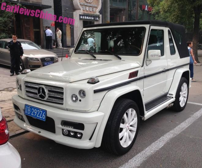 ART Mercedes-Benz G550 Cabriolet Streetline is a white open G in China