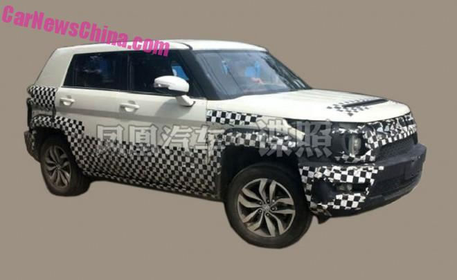 Spy Shots: Beijing Auto BJ20 testing in China