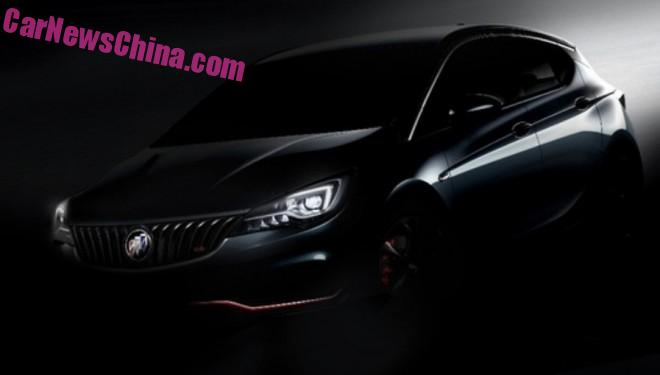 Buick teases the Verano GS hatchback for China