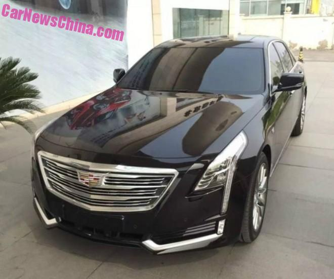 Spy Shot: Cadillac CT6 in Black and Red in China