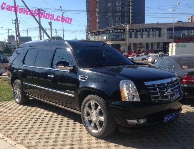 Spotted in China: an extra stretched Cadillac Escalade