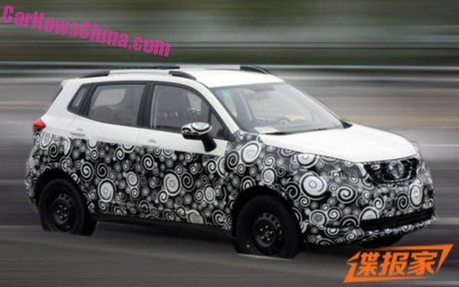 Spy Shots: Changan CS15 SUV seen testing in China