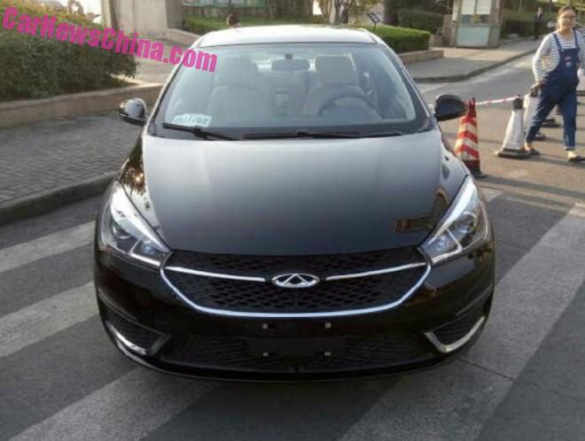 More Spy Shots of the Chery Arrizo 5 sedan for China