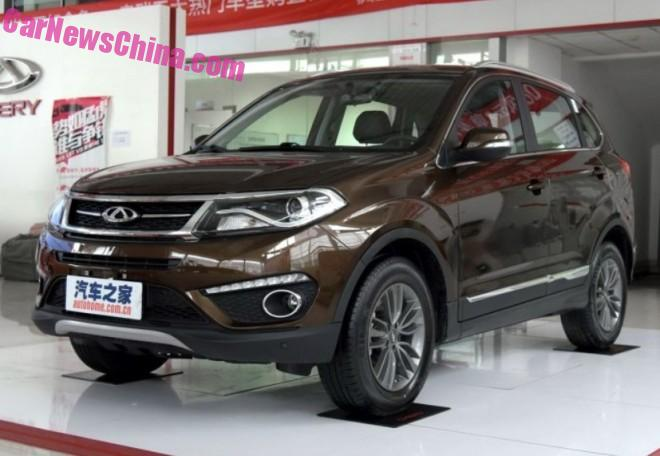 Facelifted Chery Tiggo 5 hits the Chinese car market