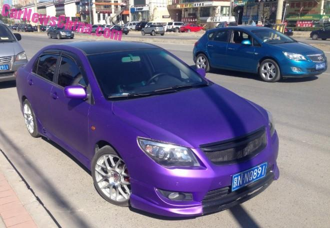 Toyota Corolla is Shiny Purple in China