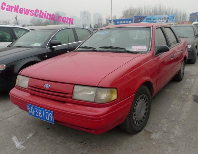 Spotted in China: Ford Tempo GL in Red