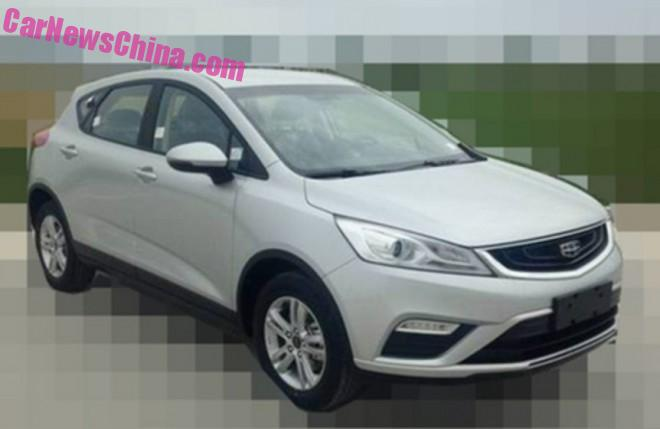Spy Shots: Geely Emgrand Cross is Naked in China